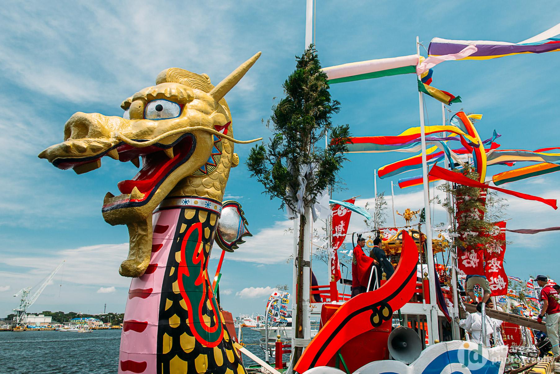 Shiogama Minato Festival, the Parade of the Dragon Boats